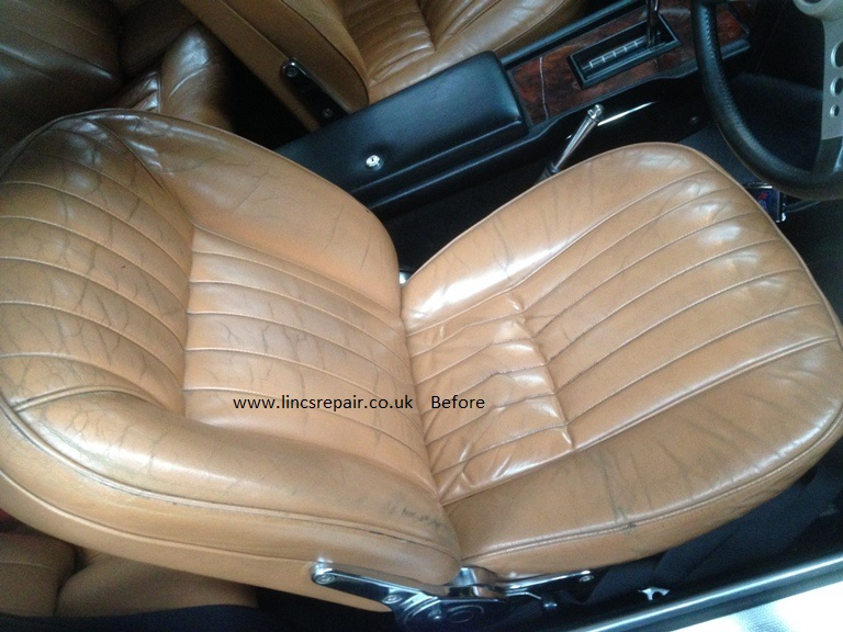 Leather car seat cleaning, repair and restoration